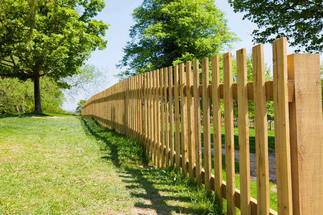 beautiful wooden park fence